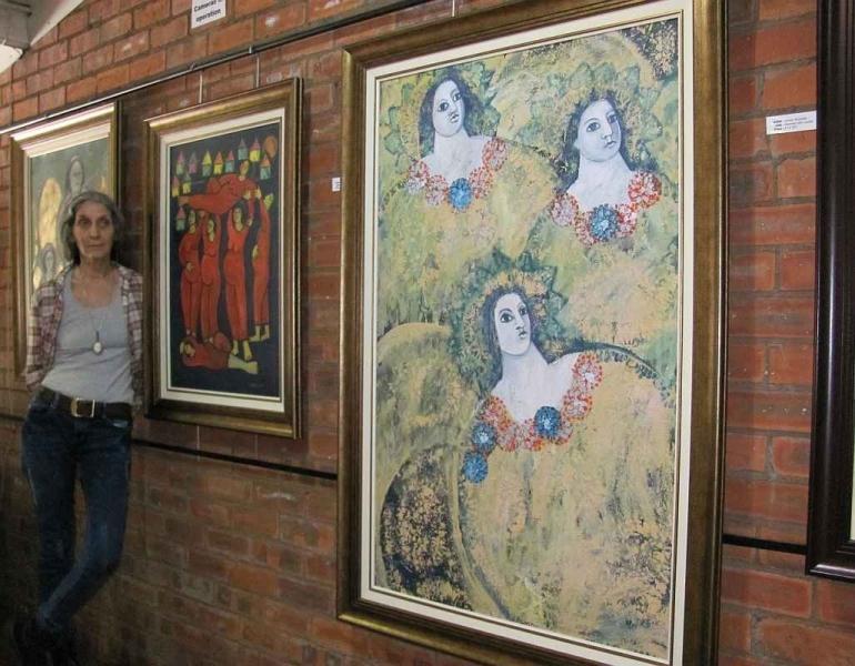 Angelic Images (70cm x 90) ...... Scarlet Sisterhood (65cm x 85) ...... Tripartite (90cm x 135)